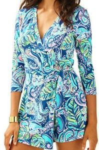 Hanging with fronds Karlie wrap romper